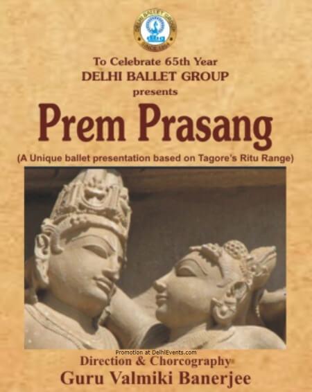 Prem Prasang Dance Ballet Tagores Ritu Rang India Habitat Centre Lodhi Road Creative