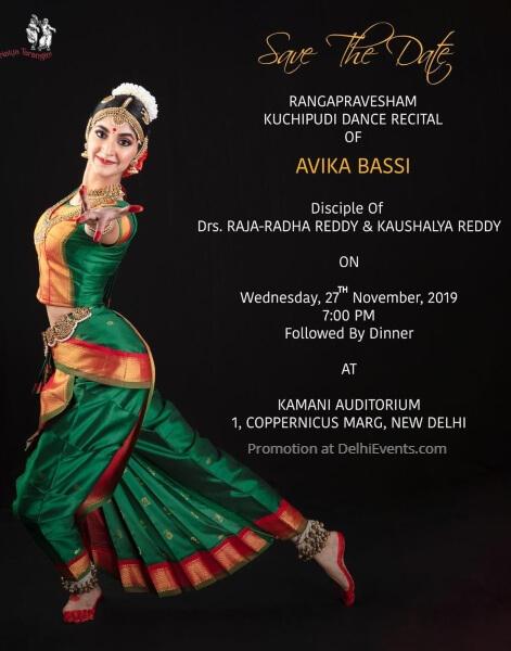 Rangapravesham Kuchipudi Recital Avika Bassi Kamani Auditorium Mandi House Creative