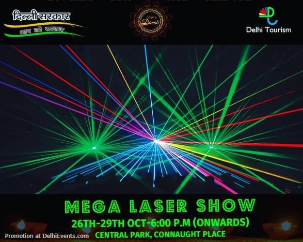 Mega Laser Show Dilli Ki Diwali Central Park CP Creative