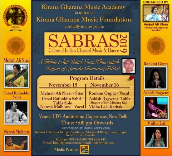 Sabras Music Dance Festival 2019 LTG Auditorium Mandi House Creative