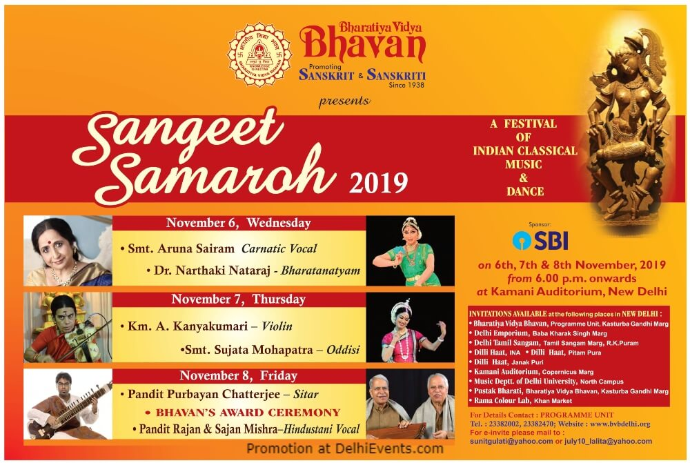 Sangeet Samaroh Festival Indian Classical Music Dance Kamani Auditorium Mandi House Creative