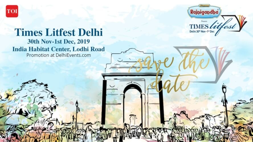 Times Litfest 2019 India Habitat Centre Lodhi Road Creative