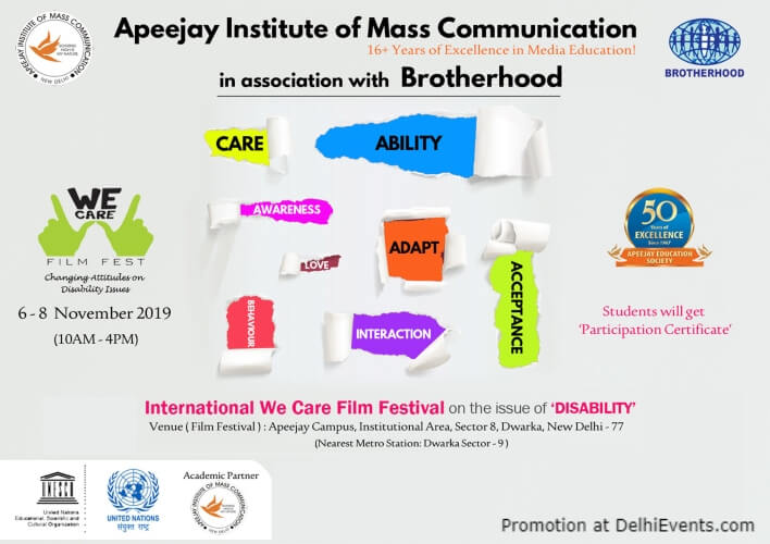 We Care International Film Festival Apeejay Institute Dwarka Creative