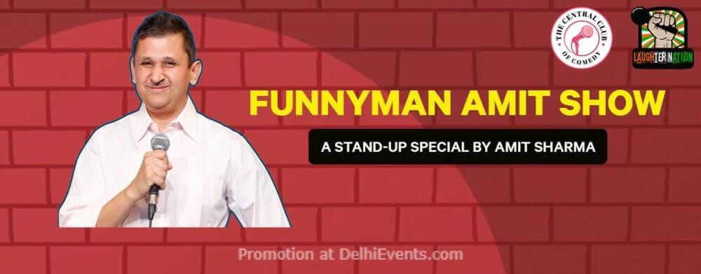 Funnyman Amit Show Standup Comedy Sharma Dribble Cafe Gurugram Creative