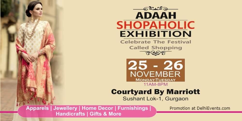 Adaah Shopaholic Exhibition Courtyard Gurugram Downtown Marriott Creative