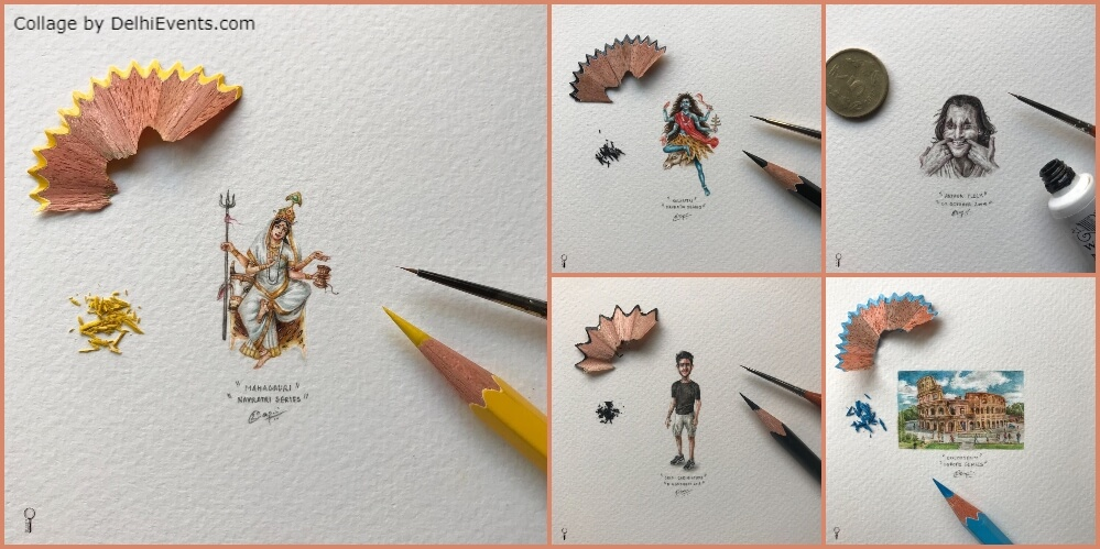 Painting All Into Small Solo Show Miniature Paintings Ritesh Bagai Indi Collage Hauz Khas Creative
