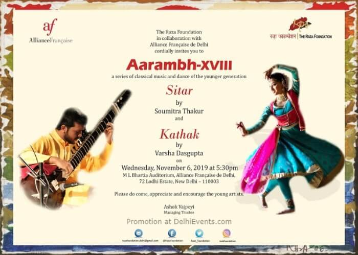 AarambhXviii Series Classical Music Dance Younger Generation Alliance Francaise Lodhi Estate Creative