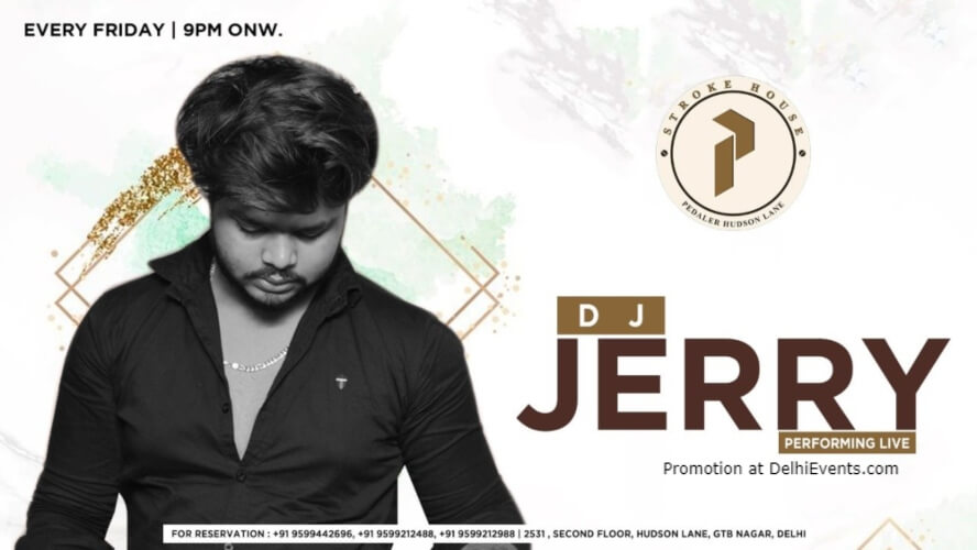 Dj Jerry Performing Pedaler's Stroke House GTB Nagar Creative