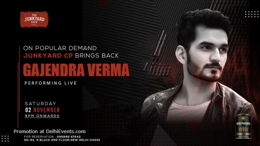 Gajendra Verma Performing Junkyard Cafe CP Creative