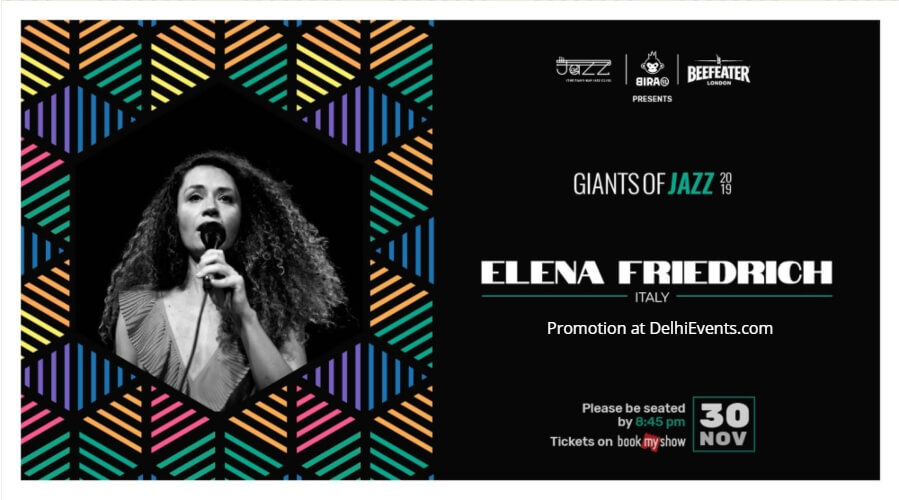Giants Jazz 2019 Elena Friedrich Piano Man Club Safdarjung Enclave Creative