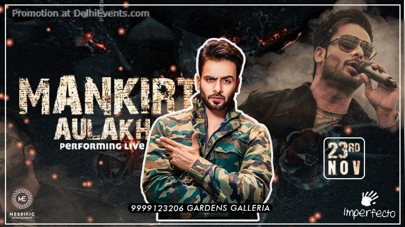 Mankirt Aulakh Performing Imperfecto Gardens Galleria Mall Noida Creative