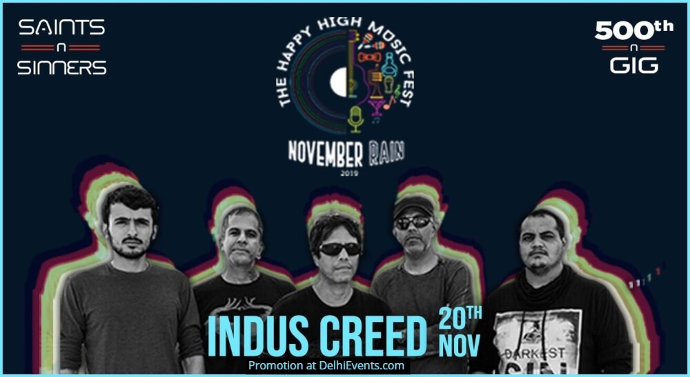 November Rain Feat Indus Creed Saints N Sinners Gurugram Creative