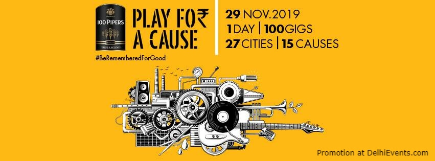 Play For Cause 1 Day 100 Gigs 27 Cities 15 Causes Farzi Cafe Aerocity Creative