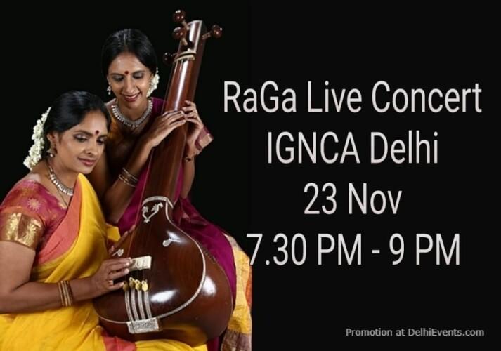 Ranjani Gayatri Raga Concert IGNCA Janpath Creative
