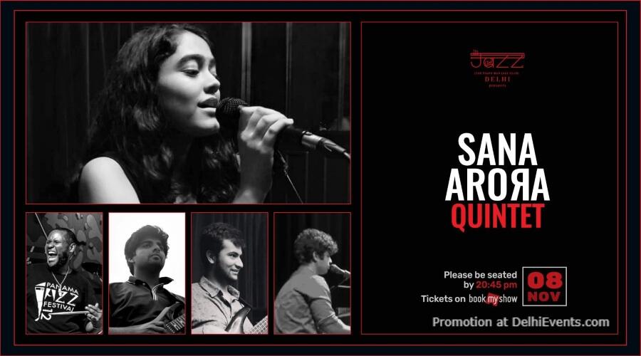 Sana Arora Quintet Piano Man Jazz Club Safdarjung Enclave Creative