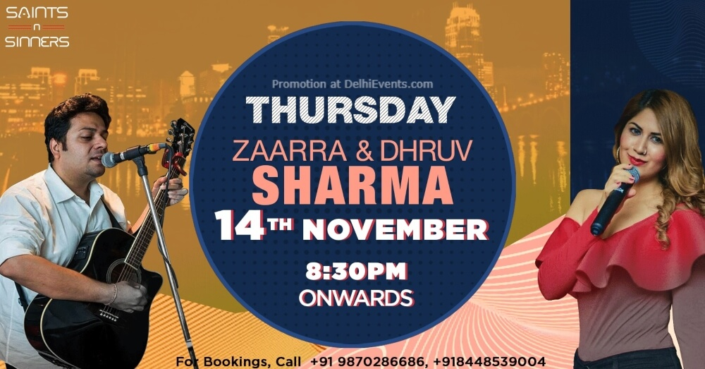 Thursday Night Zaarra Dhruv Sharma Saints N Sinners Gurugram Creative