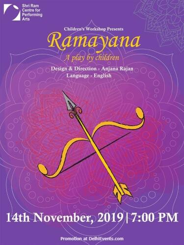 Ramayana Play Children Workshop Students Shri Ram Centre Mandi House Creative