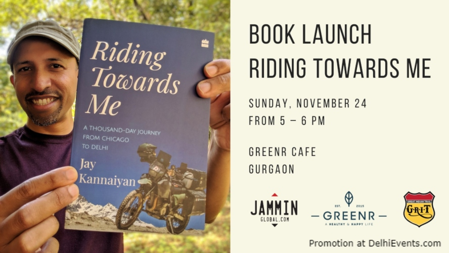 Riding towards Me ThousandDay Journey Motorcycle Book Launch GreenrCafe Gurugram Creative