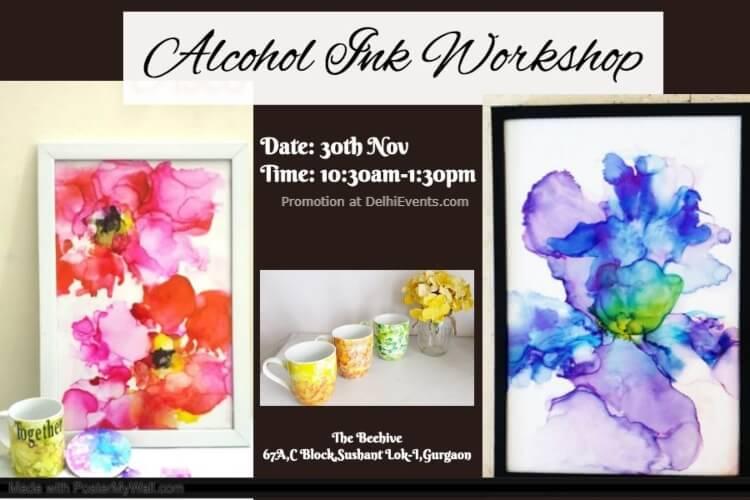 Alcohol Ink Workshop Beehive Gurugram Creative