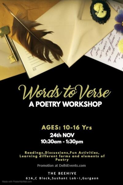Words Verse Poetry Workshop Beehive Gurugram Creative