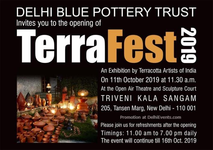 Delhi Blue Pottery Trust Terrafest 2019 Triveni Kala Sangam Mandi House Creative