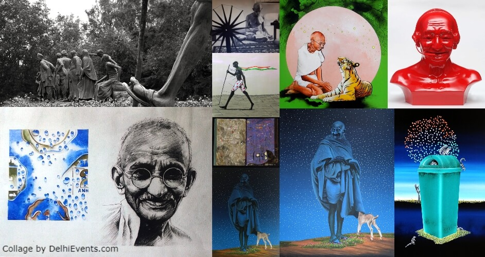 Gandhi Father of the Nation Art Konsult Exhibition Artworks