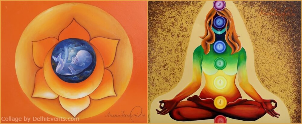 inner Bliss Solo Exhibition Paintings Artist Aruna Tewari India Habitat Centre Lodhi Road Creative