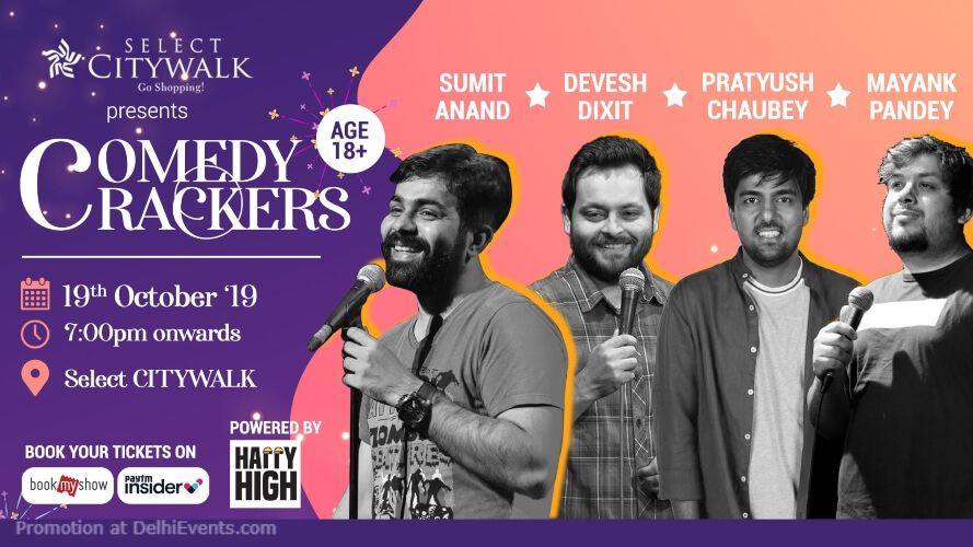 Comedy Crackers Standup Comedy  Select Citywalk Saket Creative