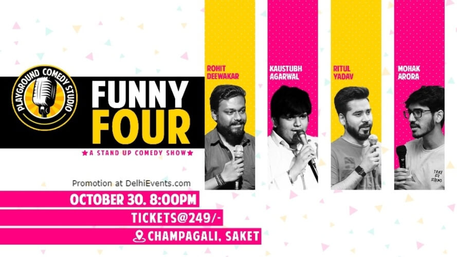 Funny Four Standup Comedy Playground Studio Saket Creative