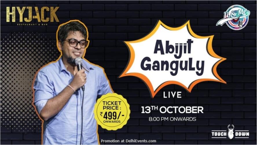 Standup Comedy Abijit Ganguly Hyjack Restaurant Bar Safdarjung Enclave Creative