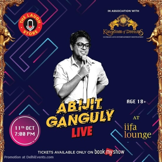 Laugh Store Standup Comedy Abijit Ganguly Kingdom Dreams Gurugram Creative