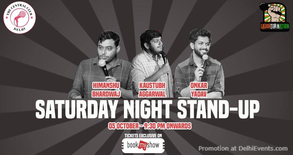StandUp Comedy Himanshu Bhardwaj Kaustubh Aggarwal onkar Yadav Akshara Theatre Baba Kharak Singh Marg Creative