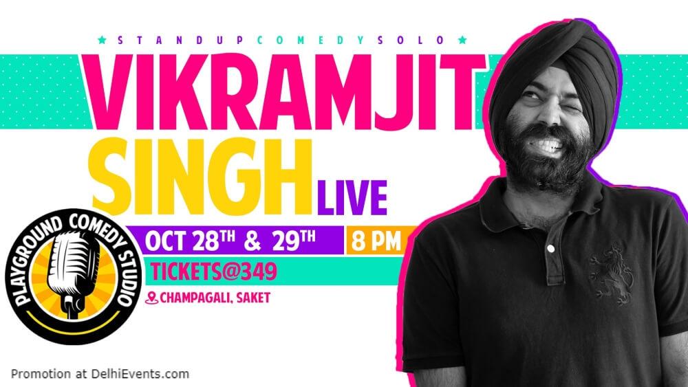Standup Comedy Vikramjit Singh Playground Studio Saket Creative
