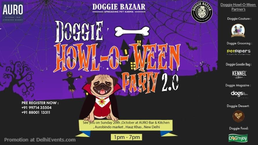 Doggie Bazaar HowlOWeen Party 2019 Auro Kitchen Bar Hauz Khas Creative