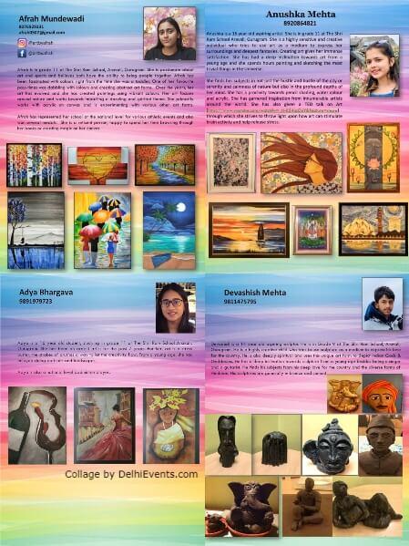 Expressions Group Show Anushka Afrah Adya Devashish India Habitat Centre Lodhi Road Creative