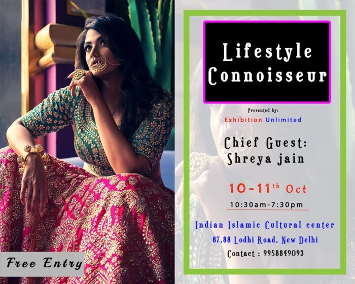 Exhibition Unlimited Lifestyle Connoisseur 2019 India Islamic Cultural Centre Lodhi Road Creative