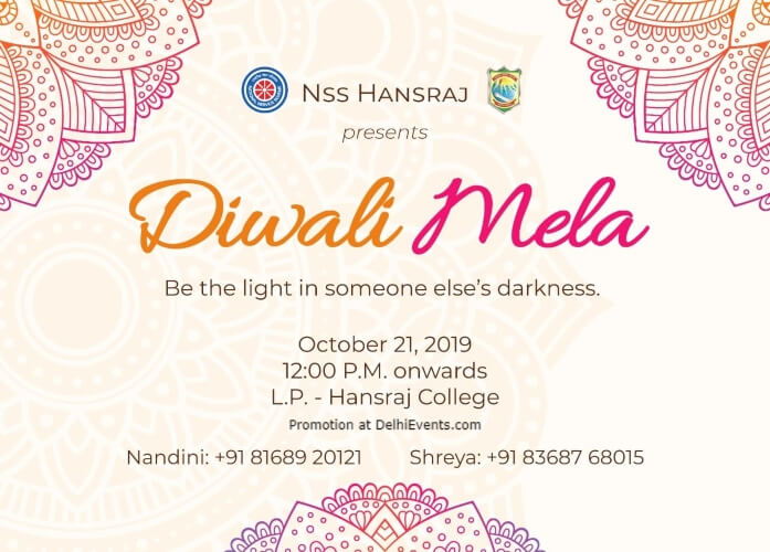 Diwali Mela 2019 Hansraj College North Campus Creative