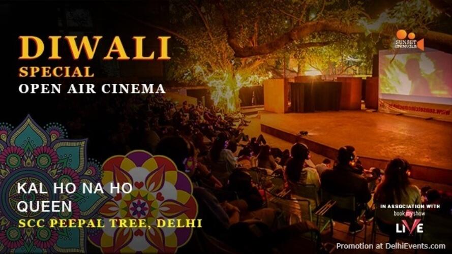 Open Air Cinema Diwali Special Akshara Theatre Baba Kharak Singh Marg Creative