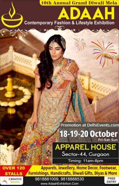 Adaah 10th Annual Grand Diwali Mela Adaah Apparel House Gurugram Creative