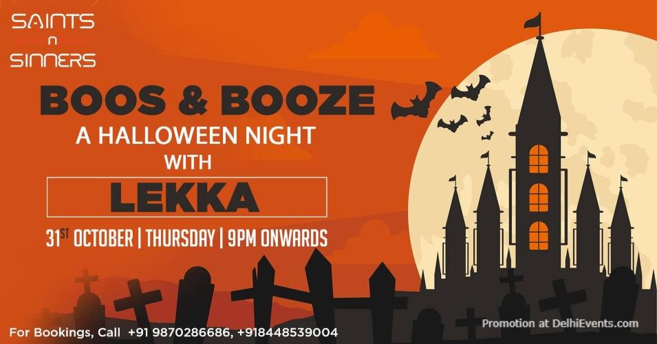Boos Booze Halloween Night Lekka Saints N Sinners Gurugram Creative