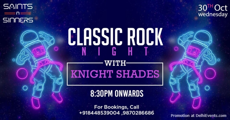 Classic Rock Night Knight Shades Saints N Sinners Gurugram Creative