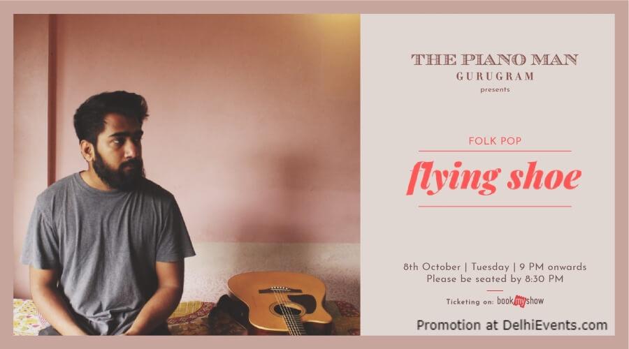 Flying Shoe Piano Man Gurugram Creative