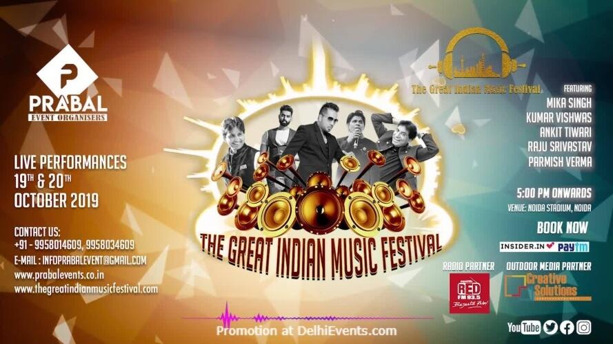 Great Indian Music Festival Noida Stadium Creative