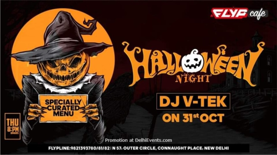 Halloween Havoc Flyp Cafe Connaught Place Creative