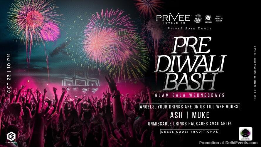 Pre Diwali Bash Glam Gala Wednesdays Privee CP Creative