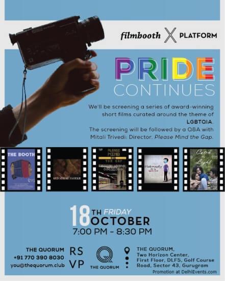 Pride Continues Films Lgbtqia World Quorum Gurugram Creative