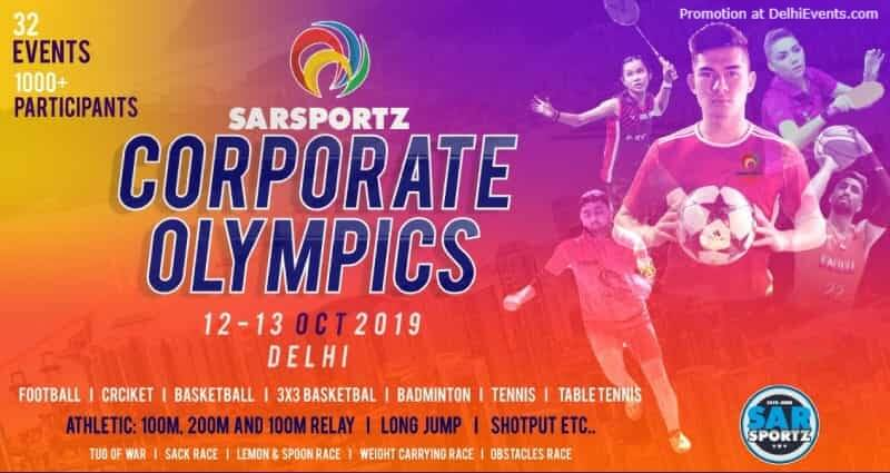 Corporate Olympics Sar Sportz Thyagraj Sports Complex INA Colony Creative