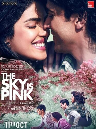 Sky Pink starring Priyanka Chopra Farhan Akhtar Zaira Wasim Film Poster