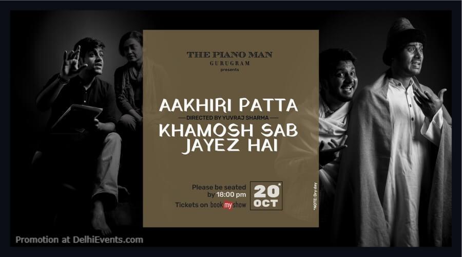 Aakihri Patta Khamosh Sab Jayez Hai Plays Piano Man Gurugram Creative