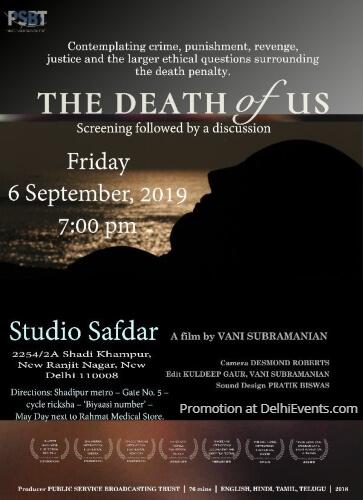 Death Us film Vani Subramanian Studio Safdar Creative